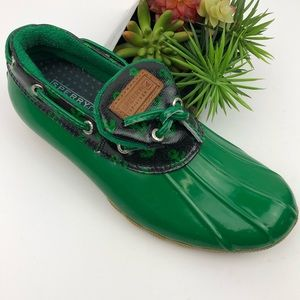 Sperry Top-Sider Green Rain Shoes | 6.5